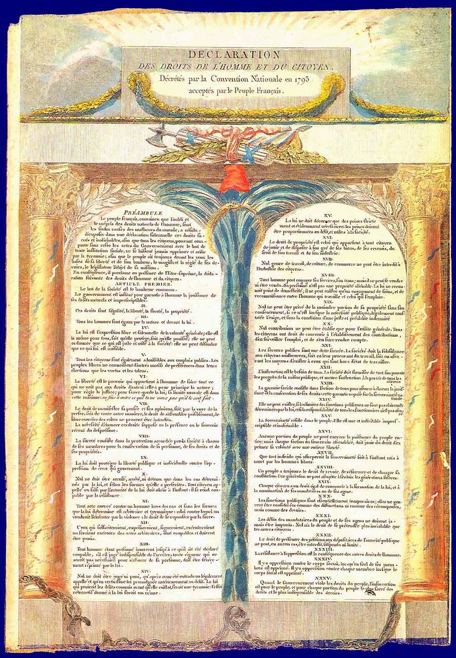 декларация прав человека 1791 год